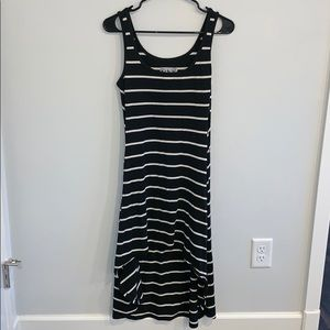 White and black stripe Marc New York dress